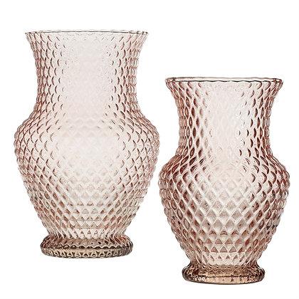 Blush Glass Vase + Vessel