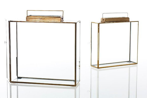 Metal + Glass Square Lanterns