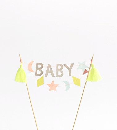 Meri Meri 'Baby' Cake Topper