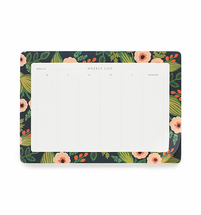 'Jardin' Weekly Desk Pad by Rifle Paper Co.