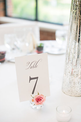Glass Place Card/Sign + Stem Spheres
