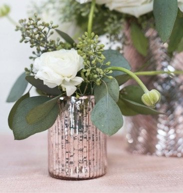Blush Pink Mercury Glass Votive/Vase