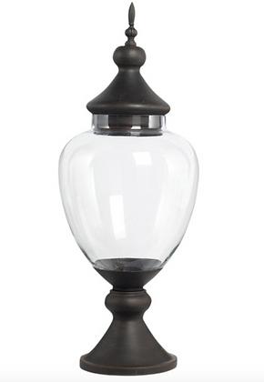 Metal + Glass Apothecary Jar