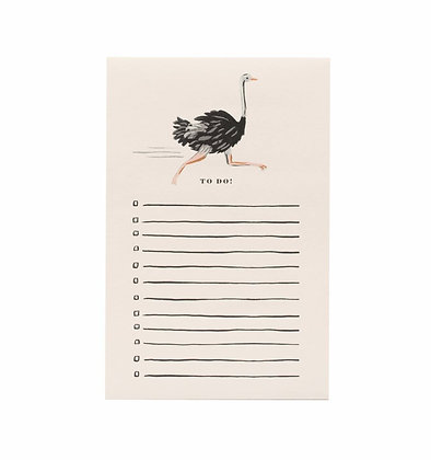 'Ostrich' Notepad by Rifle Paper Co.