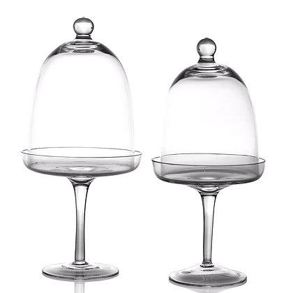 Glass Pedestal + Cloche