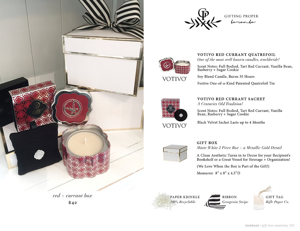 Curated Gift Box, Red Currant Tin Quatrefoil Candle, Perfumed Sachet, Porcelain Ornament , Winter White Sage Tealights, Festive, Gift, Gift Ideas, Gift Box