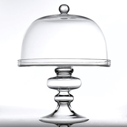 Oversized Glass Cake Plate + Dome Cover