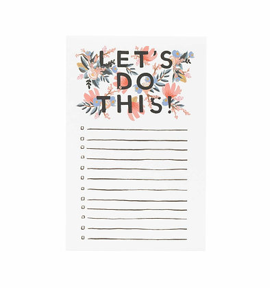 'Let's Do This!' Notepad by Rifle Paper Co.