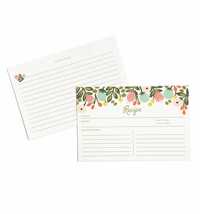 'Hanging Garden' Recipe Cards by Rifle Paper Co.