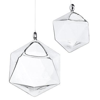Glass Hanging Geometric Vessels