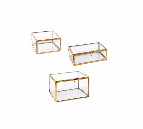 Glass + Brass Display Box