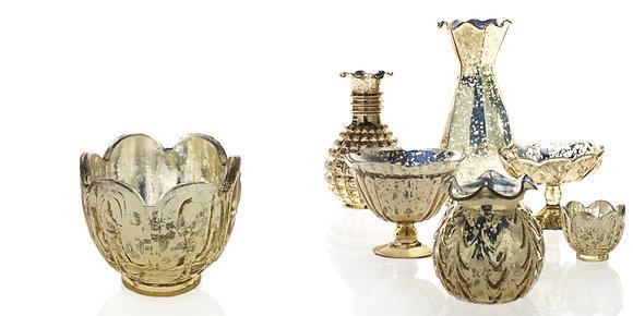 Gold Mercury Glass Mini Vase