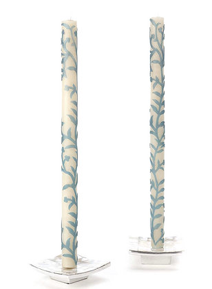 LIGHT BLUE SPONTANEOUS VINE TAPER CANDLE