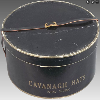 - Vintage Black Hat Box -