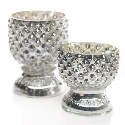 Silver Mercury Glass Votive