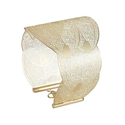 Matte Gold Filigree Bracelet
