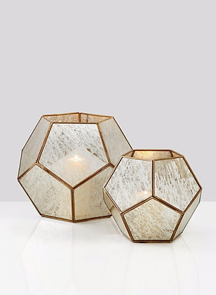 Mercury Glass Octagonal Candle Holder