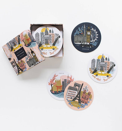 'Cities' Coaster Set/8 by Rifle Paper Co.