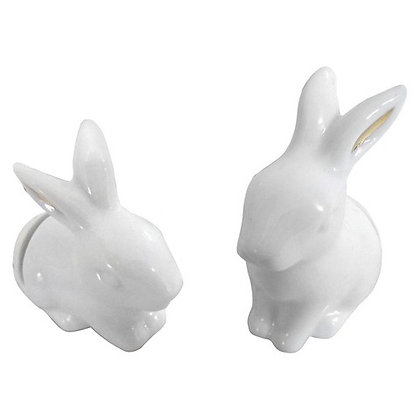 White Bunny Place Card/Sign Holders