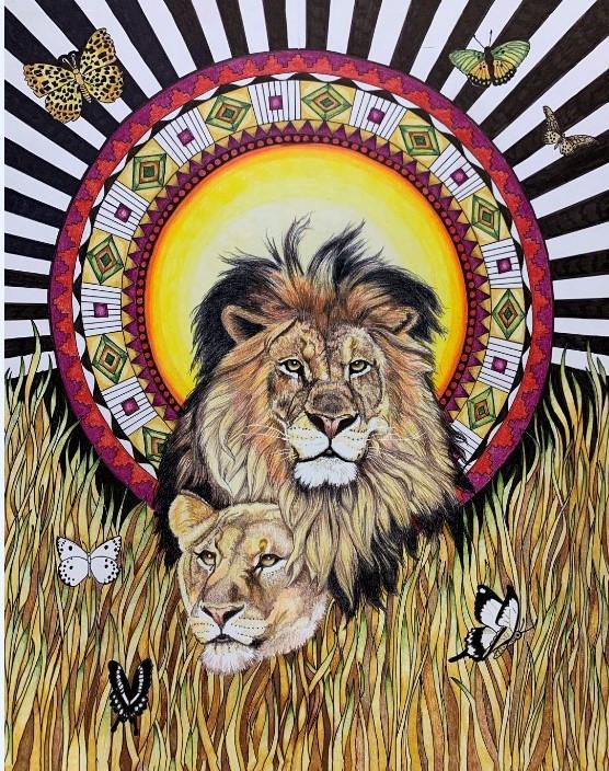 Mandala Lions