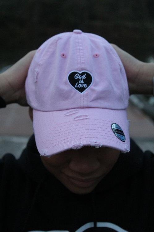 Light Pink God is Love Dad Hat