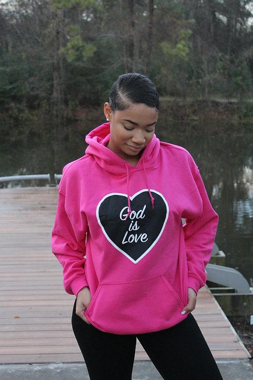Pink God is Love Hoodie