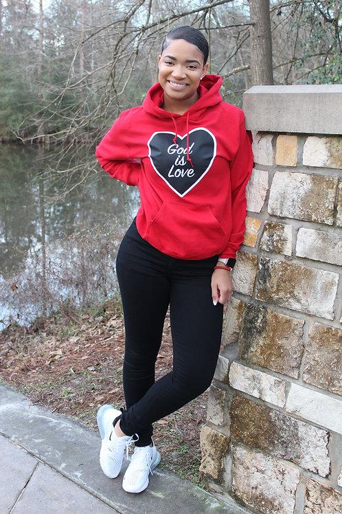 Red God is Love Hoodie