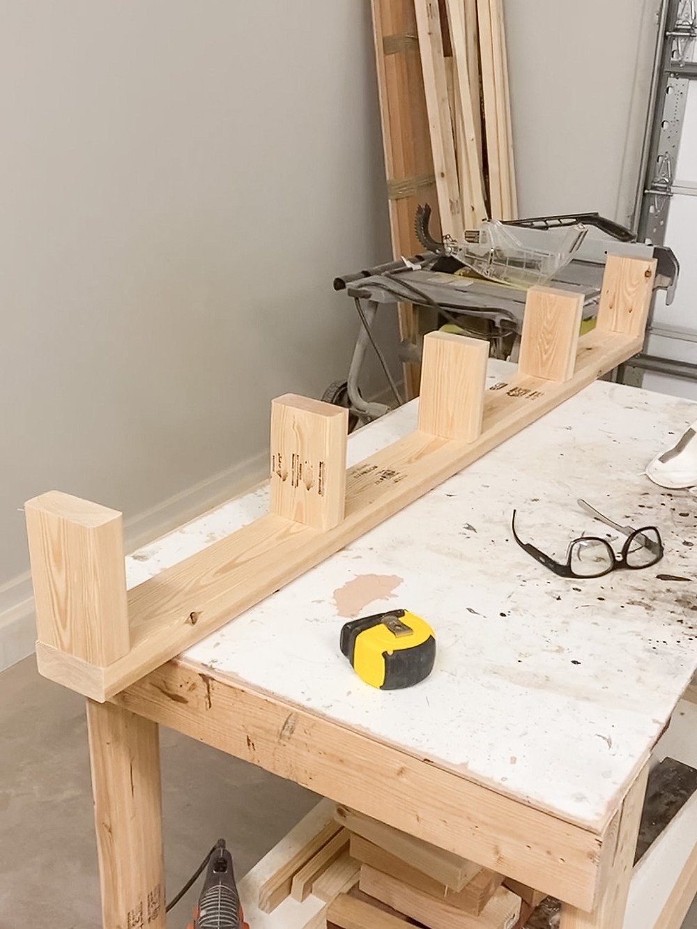 assemble the support for your floating wood mantel