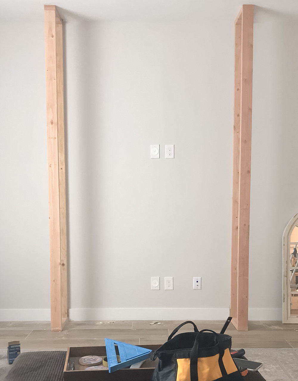 Fireplace structure build and in place