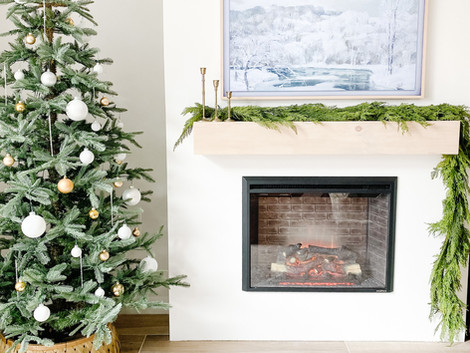 How to Build a Floating Wood Mantel for your Fireplace