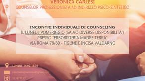 Da maggio 2021, incontri individuali di counseling a Incisa Valdarno