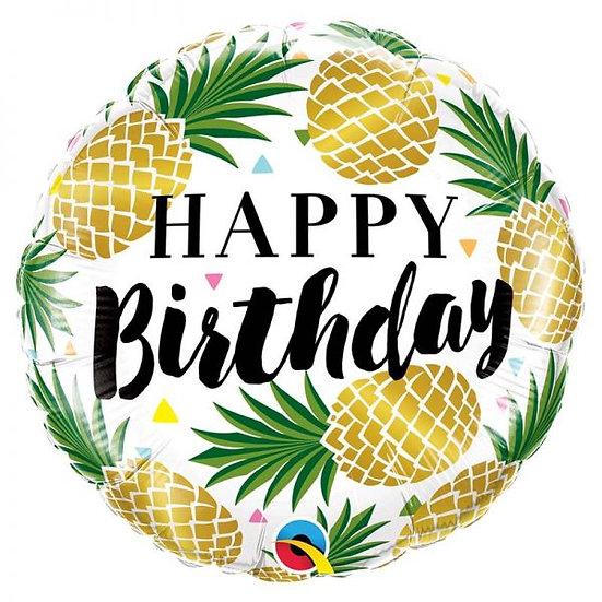 Ballon happy Birthday Ananas