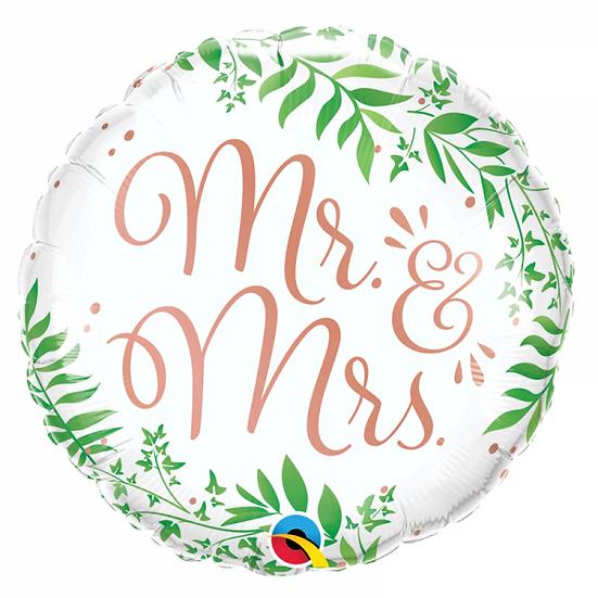 Ballon Mr&Mrs Fleuri