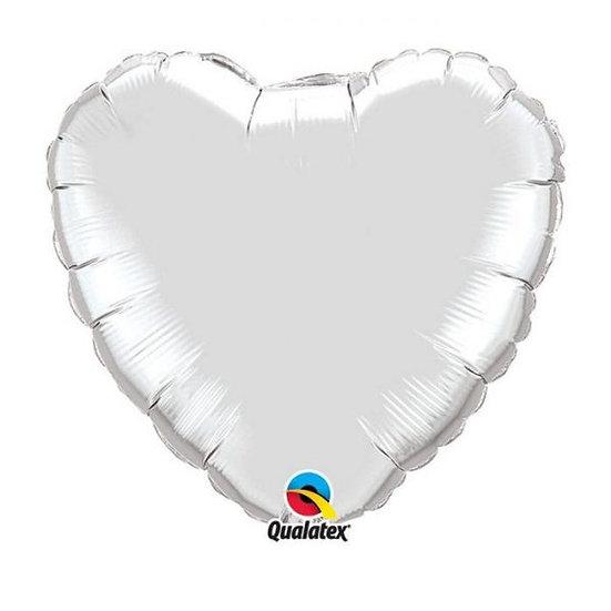 Ballon Cadeau Coeur Blanc