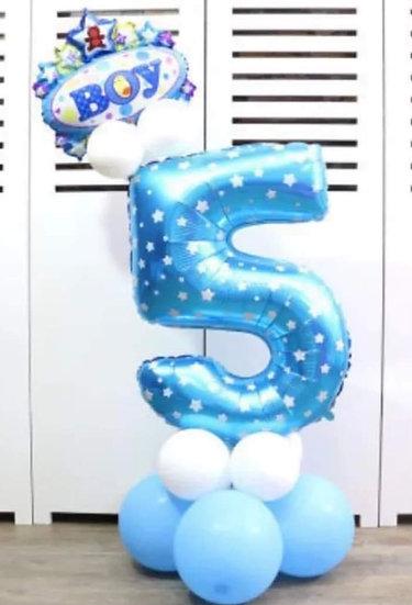 Bouquet de ballon chiffre anniversaire