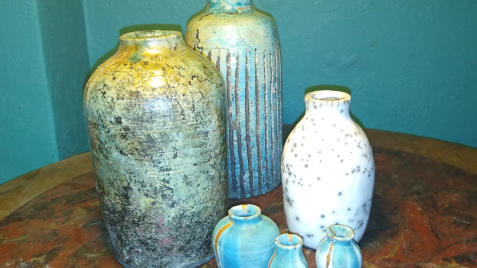 Raku Vases, £25 each, deals on more available