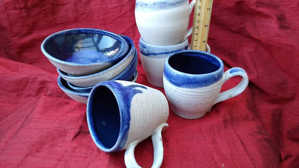 Small Blue and White bowls and mugs, 1 for £20, 2 for £30, 4 for £45
