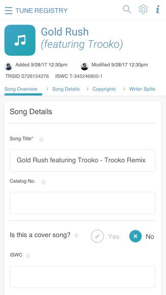Tune Registry