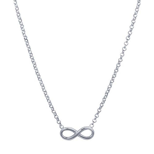 Sterling Silver Infinity Symbol Festoon Necklace Kelleigh Jewelry