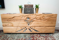 Carved Walnut Wood Furniture