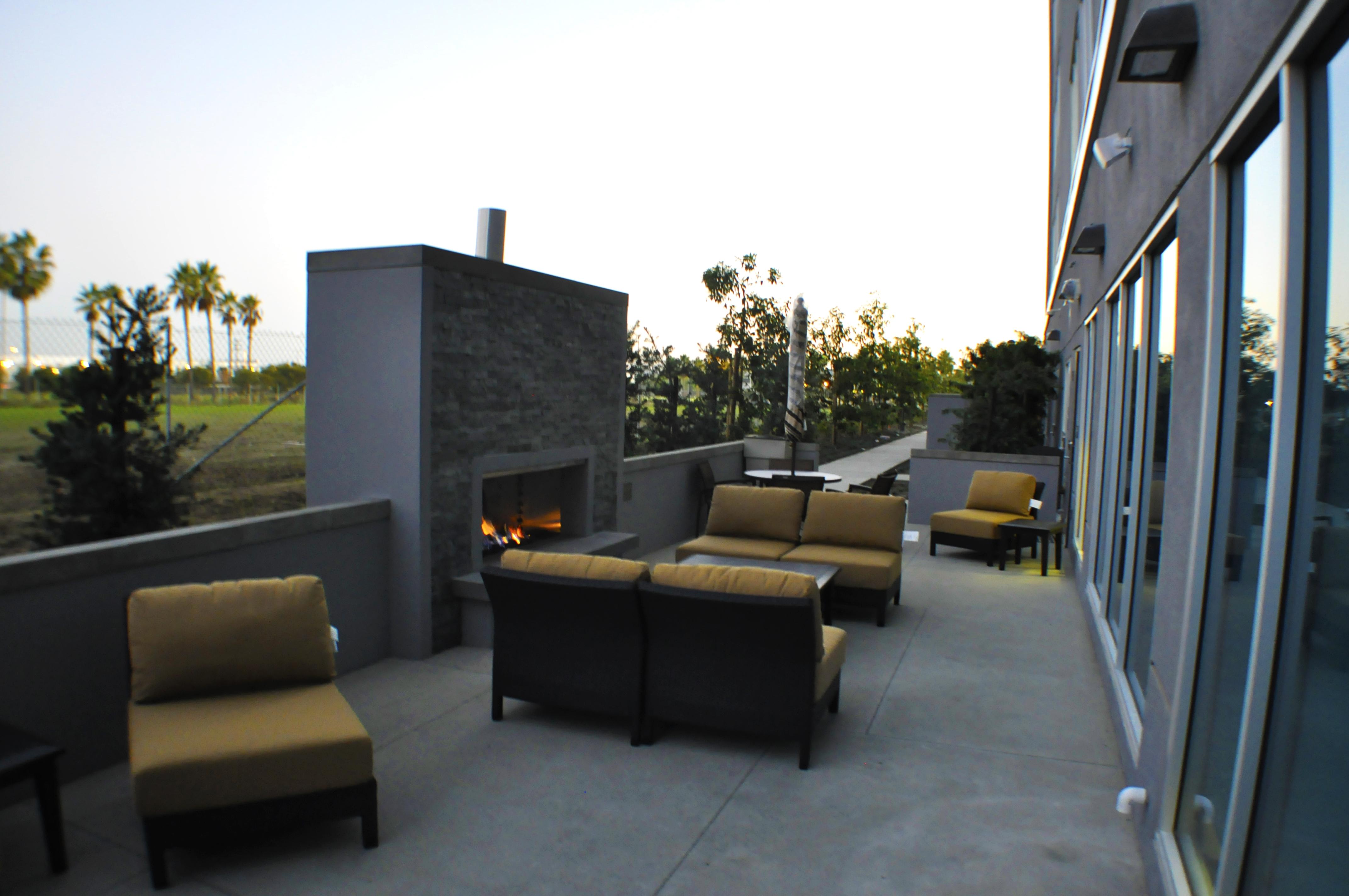 Outdoor Fireplace Night