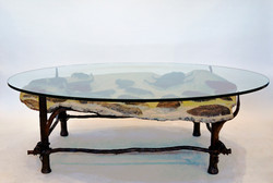 Fossil Table & Forged Steel Base