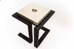 Cast Concrete & Ammonite Table