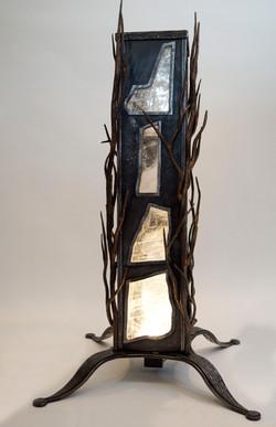 Steel & Selenite Lamp