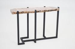 Rose Quartz Crystal Slab Table