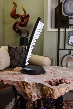 Crystal & Steel Table Light