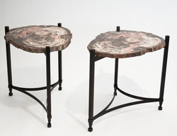 Pink Petrified Wood Tables
