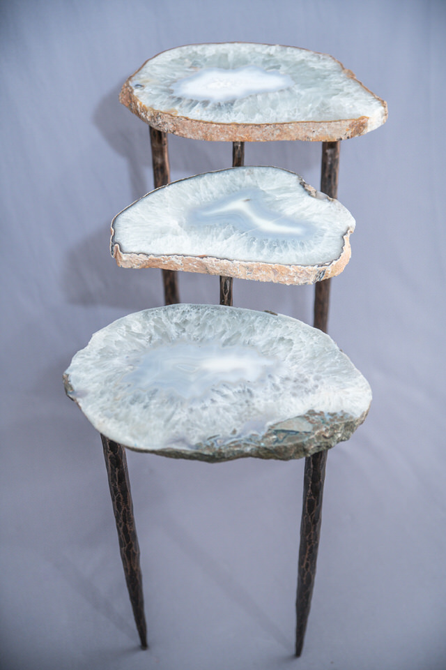 Agate & Steel Tiered Table