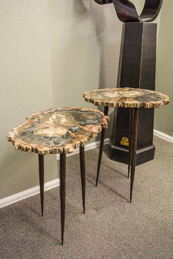 Petrified Wood Slabs Nesting Tables