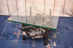 Steel & Crystal Table
